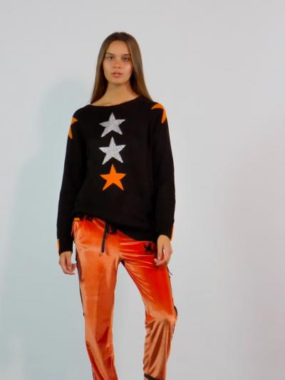 pull étoile orange